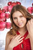 Christmas winter woman Royalty Free Stock Images