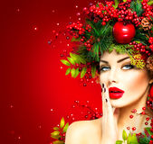 Christmas Winter Woman Stock Images