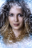 Christmas winter woman. Beauty portrait Royalty Free Stock Photography