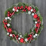 Decorative Christmas Wreath Stock Photography