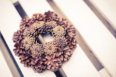 Christmas and winter wreath Stock Image