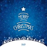 Christmas winterly backdrop Royalty Free Stock Images
