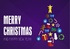 Christmas wish card Stock Photography
