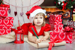 Christmas wish letter Royalty Free Stock Images