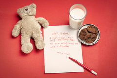 Christmas wish letter from lonely child Stock Image