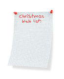 Christmas wish list. Isolated on white Stock Images
