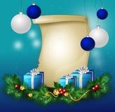 Christmas wish list Stock Photography
