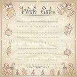 Christmas wish list illustration. Stock Image