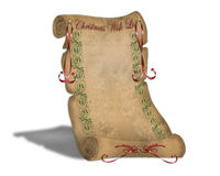 Christmas Wish List on old parchment Royalty Free Stock Images