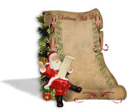 Christmas Wish List on old parchment Stock Photo
