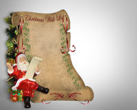Christmas Wish List Santa parchment Royalty Free Stock Image