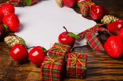 Christmas wish list on table Royalty Free Stock Photography
