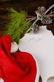 Christmas wish list on table Stock Image