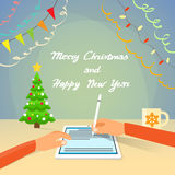 Christmas Wish List to Santa Hand Write on Digital Stock Images