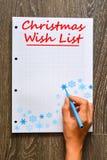 Christmas wish list to Santa Royalty Free Stock Images