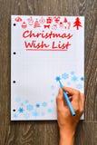 Christmas wish list to Santa Stock Photos
