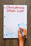 Christmas wish list to Santa Royalty Free Stock Photo