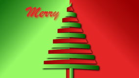 Christmas wish from red and green bended papers tree stock video footage