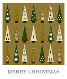 Christmas wishes. Christmas greeting card with christmas tree shapes Royalty Free Stock Photography