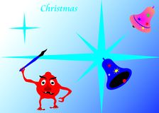 Christmas wishes. Can write a greeting card to friends, Christmas holidays Royalty Free Stock Images