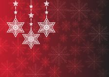 Christmas wishes, bow with stars and snow, background. Celebration, claus. vector illustration