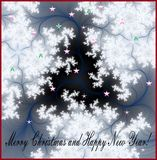 Christmas wishes and snow flakes Royalty Free Stock Images