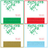 Christmas wishes square cards Royalty Free Stock Photos