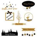 Christmas wishes text designs Royalty Free Stock Photos