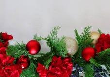 Christmas wishing card set up stock photos