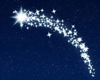 Christmas wishing shooting star Stock Image