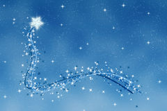 Christmas wishing twinkle star Stock Image