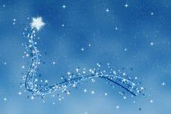 Christmas wishing twinkle star Stock Image