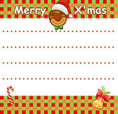 Christmas wishlist Royalty Free Stock Image