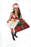 Christmas woman Stock Photography