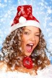 Christmas woman stock photos