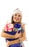 Christmas woman Stock Images