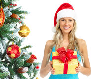 Christmas woman Royalty Free Stock Photography