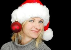 Christmas woman. Stock Photos
