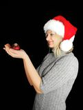Christmas woman. Royalty Free Stock Images