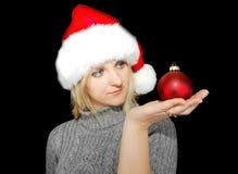 Christmas woman. Royalty Free Stock Image