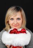 Christmas woman. Stock Photography