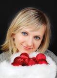 Christmas woman. Royalty Free Stock Photography