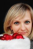 Christmas woman. Stock Image