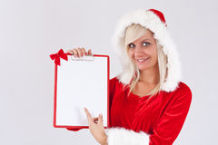 Christmas woman Royalty Free Stock Photo