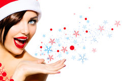 Free Christmas Woman Royalty Free Stock Images - 36054799