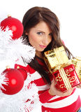 Christmas and woman Stock Image