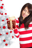 Christmas and woman Royalty Free Stock Photos