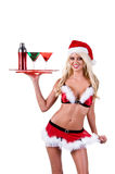 Christmas Woman Bartender Stock Photography