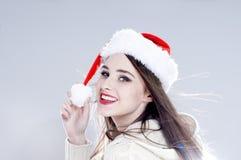 Christmas woman. Stock Photo