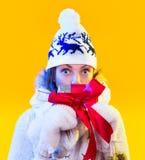 Christmas Woman. Beautiful New Year and Christmas Royalty Free Stock Photos